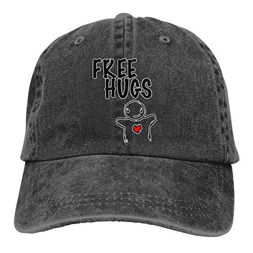 Unisex Free Hugs Classic Cotton Adjustable Baseball Cap Cowboy Hat ()