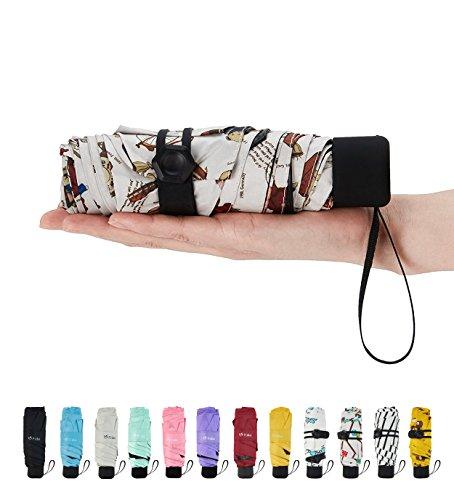 Fidus Mini Travel Sun Rain Umbrella   Light Compact Portable Parasol Umbrella For Men Women Kids Bear Brown