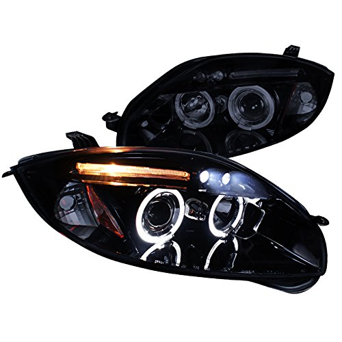 Spec-D Tuning 2LHP-ELP06G-TM Mitsubishi Eclipse Gs Gt Se Dual Halo Led Projector Headlights Smoked ()