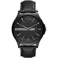 Armani Exchange Men's Dress Black Leather Watch AX2400