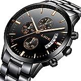 Mens Watches Waterproof Luminous Chronograph Stainless Steel Analog Quartz Watch Men Luxury Brand LIGE Fashion Dress Business Wristwatch