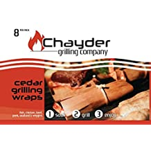 Best Cedar Grilling Wraps 8 Pack Includes Butchers Twine and Free Recipe Book Cedar Wraps Cook Fish Chicken Salmon Vegetables and Meats Perfectly Moist. Grilling Papers Are Great on Grill or in Oven