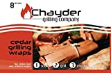 ON SALE NOW: Best Cedar Grilling Wraps for Grill or Oven, Grilling Papers cook Salmon, Chicken, Vegetables, Fish and Meats Perfectly Moist, Twine and Recipe download included.