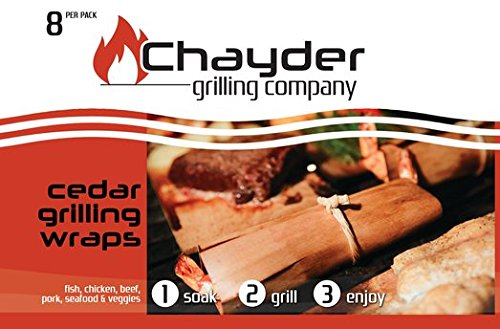Lowest Prices! Best Cedar Grilling Wraps 8 Pack Includes Butchers Twine and Free Recipe Book Cedar W...