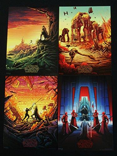 Star Wars: The Last Jedi AMC IMAX Set Weeks 1-4 Mini-Posters
