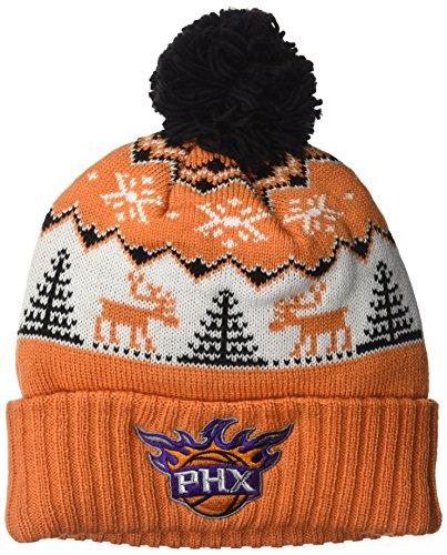 fan products of NBA Phoenix Suns Reindeer Cuffed Pom Knit,Phoenix Suns,Orange,One Size