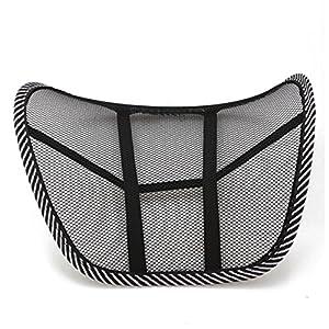 Almohada de lumbar - TOOGOO(R)Almohada de lumbar de apoyo trasero de la cintura para sillas de cojin de asiento Almohada Corrector de Postura Negro