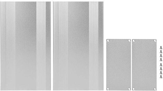 Caja de Proyecto de Aluminio, Caja de Metal Plateado para Disipación de Calor de Productos Electrónicos, Placa PCB DIY 68x145x250 mm: Amazon.es: Bricolaje y herramientas