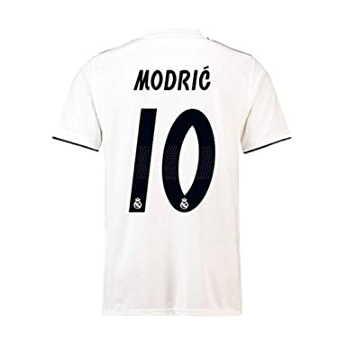 best service f4abf 4acc8 Real Madrid #10 Luka Modric Soccer Jersey 18/19 Season Home Mens Color White