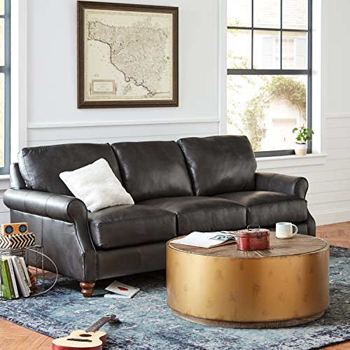 Stone & Beam Hillside Antiqued Coffee Table, 39.4'' D, Wood and Bronze by Stone & Beam (Image #2)
