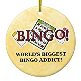 Zazzle World's Biggest Bingo Addict Ornament Circle