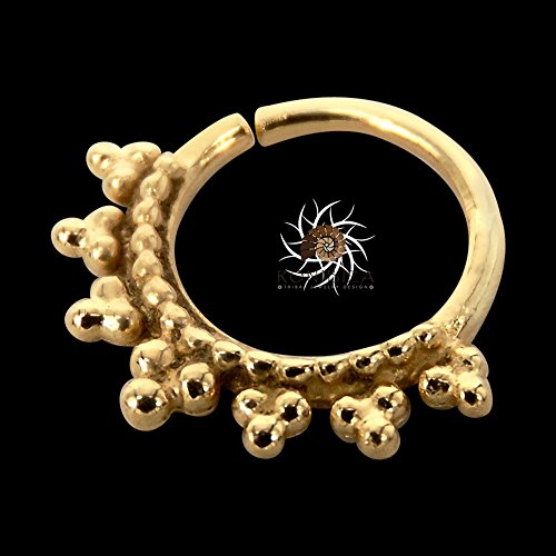 Gold Nose Ring - Gold Nose Hoop - Indian Nose Ring - Tribal Nose Ring - Nose Jewelry - Nose Piercing - Nostril Ring - Nostril Jewelry
