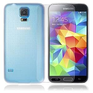 JJOnline - Blanco para el Samsung Galaxy S5 i9600 0.3mm Ultra-Súper Delgada Transparente Frosted Soft PC Caso Carcasa Cubierta Incluye Free Protector de Pantalla