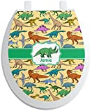 RNK Shops Dinosaurs Toilet Seat Decal - Round (Personalized)
