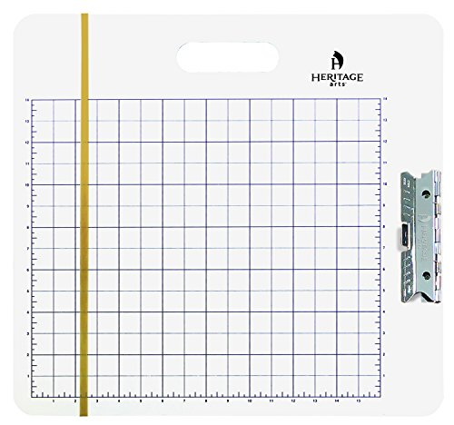 Heritage Arts GB1819 Gridded Sketch Board 18 inches x 19 inches by Alvin and Co.