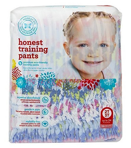 The Honest Company Training Pants ( Chambray Floral, Size 2t/3t) 26 training pads