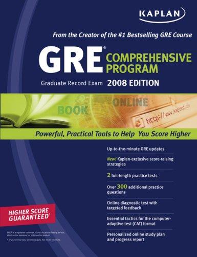Kaplan GRE Exam 2008 Comprehensive Program