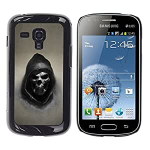 Design for Girls Plastic Cover Case FOR Samsung Galaxy S Duos S7562 Grim Reaper Skull Goth Death OBBA