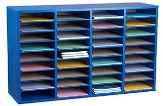 AdirOffice Wood Adjustable Literature Organizer (36 Compartment, Blue) (B0741DDRPS) | Amazon price tracker / tracking, Amazon price history charts, Amazon price watches, Amazon price drop alerts