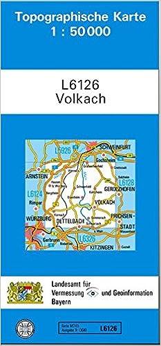 Topographische Karte Bayern.Tk50 L6126 Volkach Topographische Karte 1 50000 Tk50 Topographische