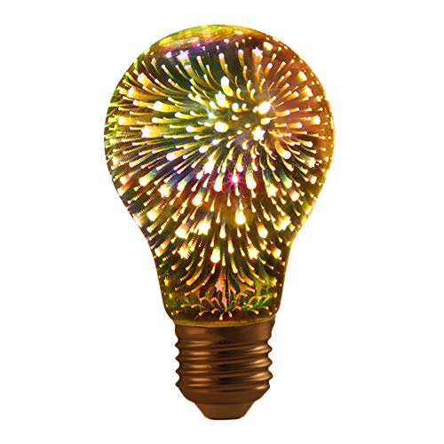 LED Firework Bulb Christmas Decorative LED Multicolor Bulb Lamp for Home Holiday Christmas Party Decorative Lamp (A)