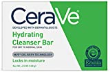 Facial Cleanser Soap - CeraVe Hydrating Cleansing Bar 4.5 oz Non-Soap Alternative for Daily Body and Facial Washing, Dry to Normal Skin