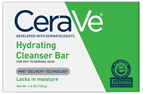 CeraVe Hydrating Cleanser Bar | 1 Bar (4.5 Ounce) | Soap-Free Body and Face Cleanser Bar | Fragrance Free and Non-Irritating