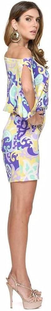 Iris Open Arms Purple Print Dress