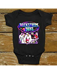 Moncome Vintage Backstreet-in A World Like This Nobody-Else Music Gifts Boys Bodysuit Onesie