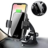 Qi Wireless Car Charger Mount,Automatic Sensor Fast Charging Air Vent Phone Holder Compatible iPhone Xs MAX/XR/X/8 Plus Samsung Galaxy S9/7/Note All Qi-Enabled Phones