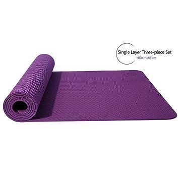 Luckyin Alfombrilla de Yoga ecológica con Bolsa de ...