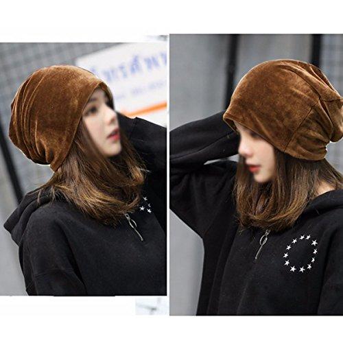 Abby libero Coffee and Woman Cappello tempo Simple il Man Bonnet Ear Head Plush Protective per rxrSqpwn6O