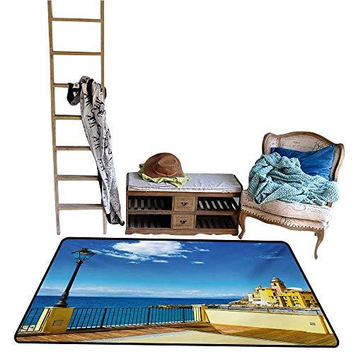 - Custom Pattern Floor mat,Camogli Building Sea Lamp and Balcony Tourist Spot in Ligury Italy Print 48