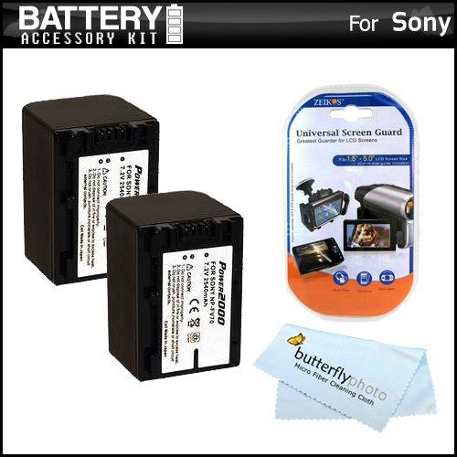 2 Pack Battery Kit For Sony HDR-PJ380, HDR-PJ380/B, HDR-PJ38