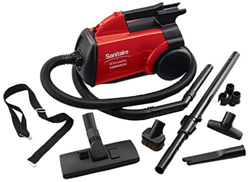 Sanitaire SC3683B Detail Cleaning Commercial Vacuum, 7' Hose, 20' Cord, 10 Amps, 18'' Length x 11'' Width x 19'' Height, Red by Generic