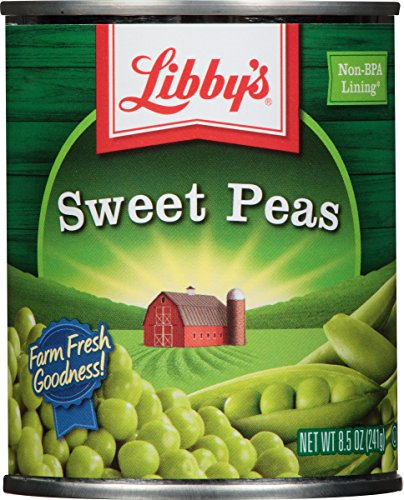 Libby's Sweet Peas, 8.5-Ounces Cans (Pack of 12) by Libby's