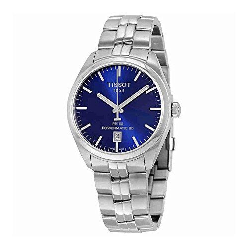 Gents Blue Dial Watch - Tissot PR 100 Automatic Blue Dial Mens Watch T101.407.11.041.00