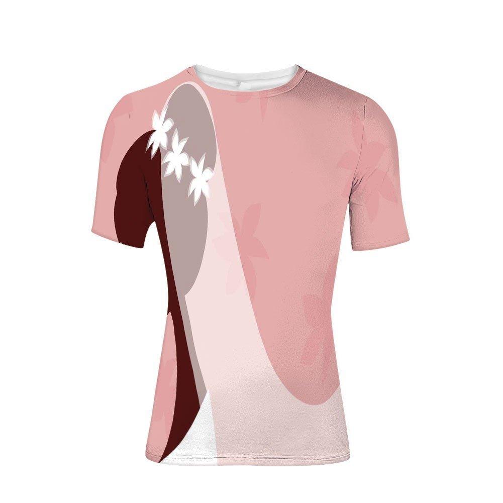 Tee Shirts Tops,Wedding Dress on Pink Backdrop with Veil Image,Mens 3D Print