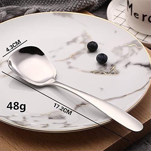 (Kids Spoon,Stainless Steel Ice Cream Spoon Tea Spoon Dessert Cake Sugar Spoon Kitchen Flatware)