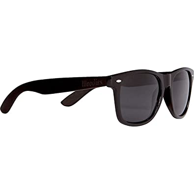 aa07542941 WOODIES Ebony Wood Sunglasses with Black Polarized Lenses for Men or Women
