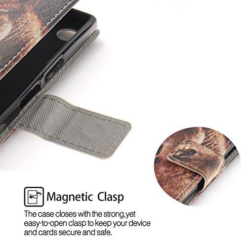 Housse Sony Protecteur avec Coque Xperia Coque Lohpe 7 Fentes Compact S Clapet XZ1 Cuir de Carte Support et Portefeuille PU pour Luxe qY8xEnE