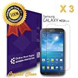 OBiDi - Samsung Galaxy Mega 6.3 Screen Protector, Crystal Clear / Transparent - OBD Retail Packaging (Pack of 3)