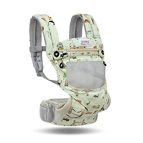 QIDI Babytrage Front Halten Mesh Universal Atmungsaktiv Modisch Größenhocker (Farbe   T-4)