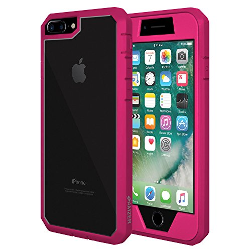 AMZER AMZ200260 Full Body Protective Case with Built-in Screen Protector Skin for Apple iPhone 7 Plus - Pink