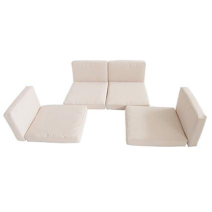 Amazon.com: Muebles de jardín de mimbre mimbre Cojín Funda ...