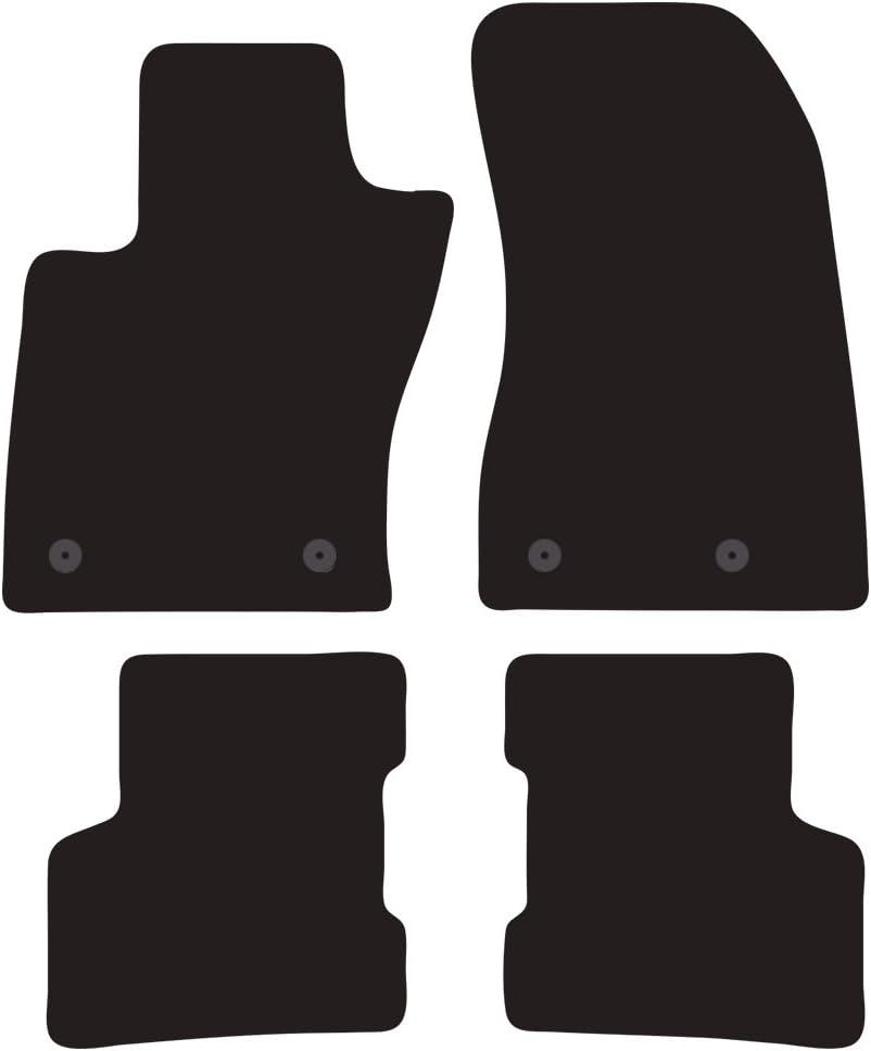 2 Ricami Argento Su misura Tappeti auto moquette antiscivolo COLOR0000056A distanza fissaggi tappeto anteriore lato passeggero 18,5 Cm