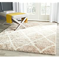 Safavieh Montreal Shag Collection SGM831C Beige and Ivory Area Rug (67 x 96)