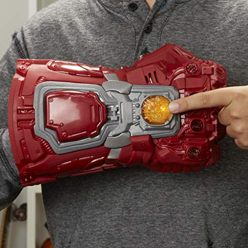 517Toh1ifzL - Avengers Marvel Endgame Red Infinity Gauntlet Electronic Fist Roleplay Toy with Lights and Sounds for Kids Ages 5 and Up