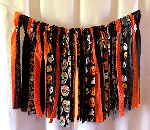 Halloween Hippie Valance Curtains 18in (RV, Camper, Van, Colorful Banner, Party Decor, Highchair Banner, Photo Prop, Wall Decor, Mantle)]()