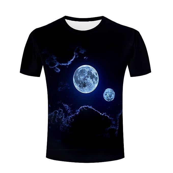 decb43576674 Amazon.com: Maoda Mens 3D Tshirts Printed Night Moon Cool Graphics ...
